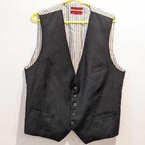 Ted Baker black wool waistcoat 44R